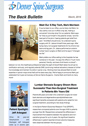 The Back Bulletin - March 2015