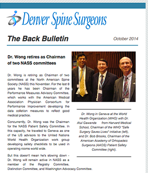 The Back Bulletin - October 2014
