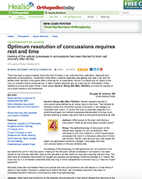 Healio article on concussions