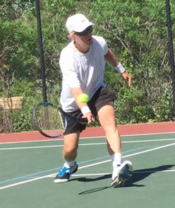 Scott playing tennis