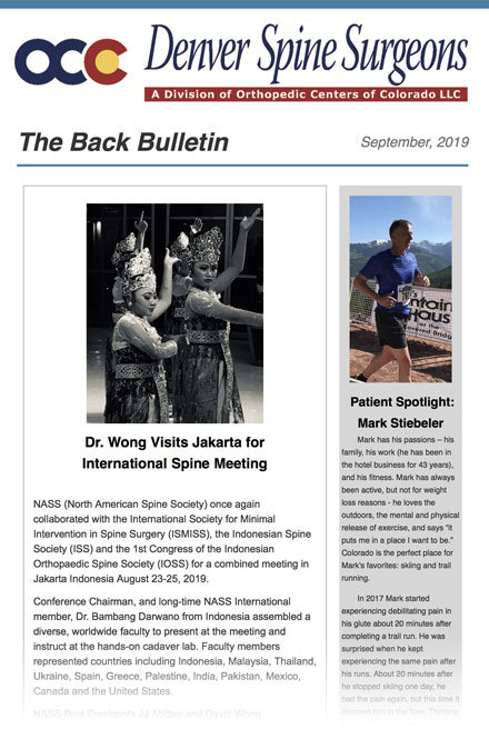 September Back Bulletin