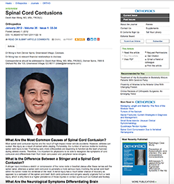spinal cord contusions, high impact motor vehicle accidents